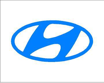 Hyundai logó matrica