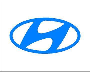 Hyundai logó matrica (ovális) (M1)