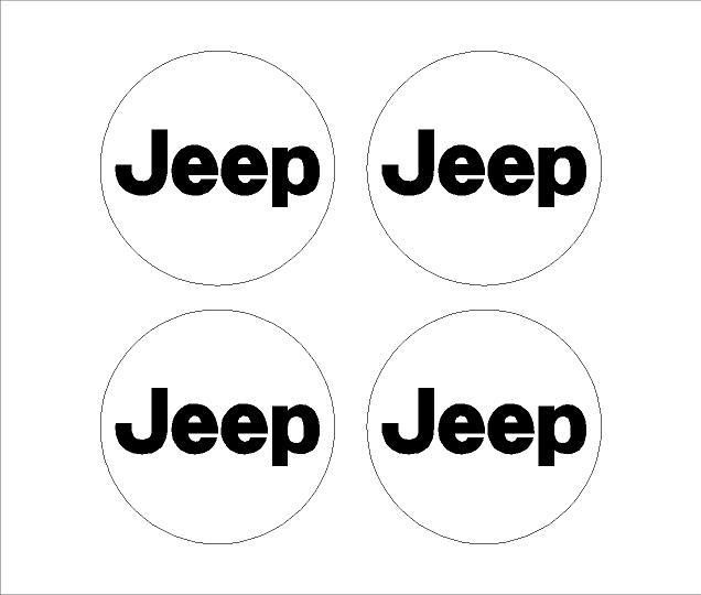 Jeep felniközép matrica szett