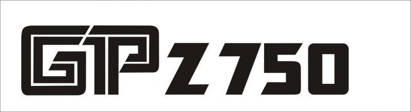 Kawasaki GP Z 750 matrica (M1)