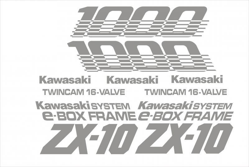 Kawasaki ZX10 1000 matrica szett