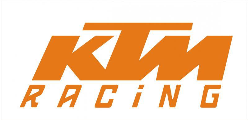 KTM Racing matrica (120x48 mm)