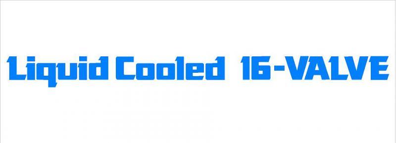Liquid Cooled 16-VALVE matrica