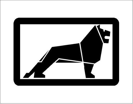 MAN oroszlán matrica (M1)