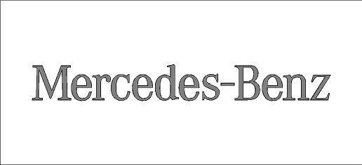 Mercedes-Benz matrica (közepes méret)