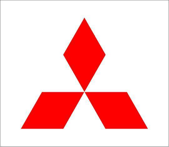 Mitsubishi logó matrica (M2)