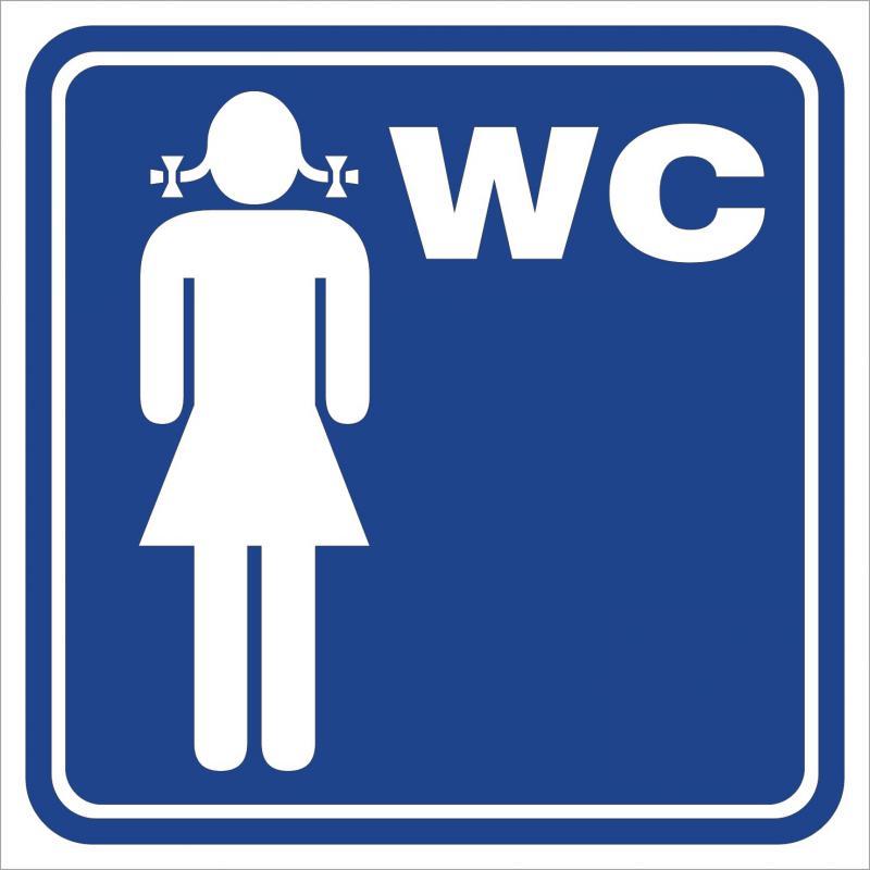 Női WC 2 matrica