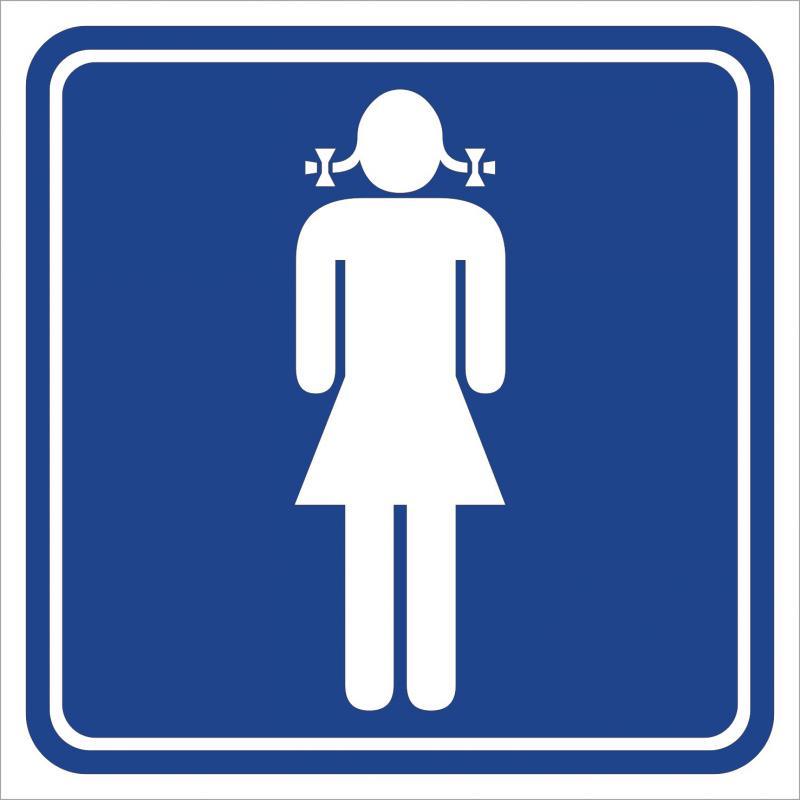 Női WC matrica