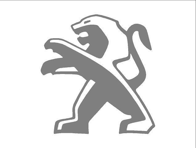 Peugeot oroszlán matrica