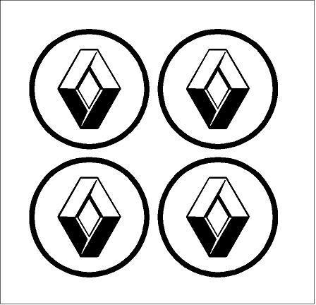 Renault új logós felni közép matrica (digit)