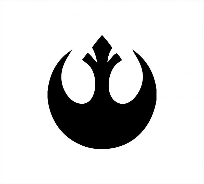 Star Wars lázadók matrica (kis méret)