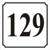 Ház szám tábla 3. 15x15 cm-s