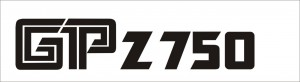 Kawasaki GP Z 750 matrica (141x30 mm)