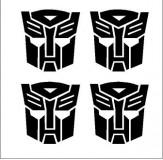 Transformers Autobot felniközép matrica szett