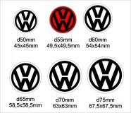 Volkswagen felniközép matrica szett 2. típus