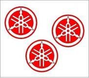 Yamaha logó kör matrica szett 4. típus