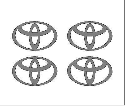 Toyota felniközép matrica szett (ovális)