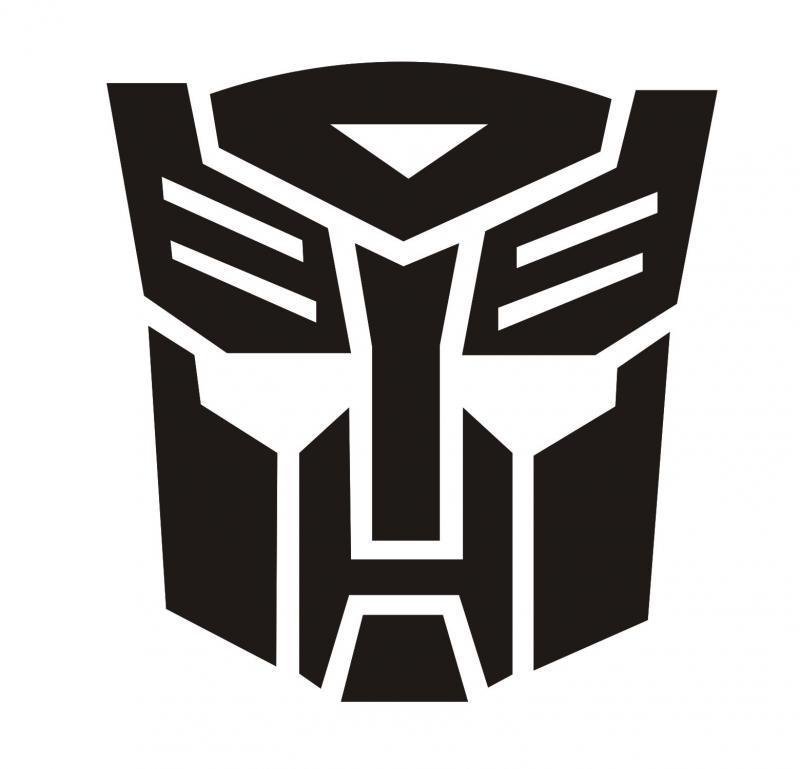 Transformers Autobot matrica 80x84 mm