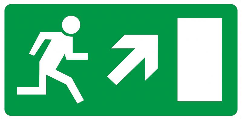 Vészkijárat irányító matrica 1