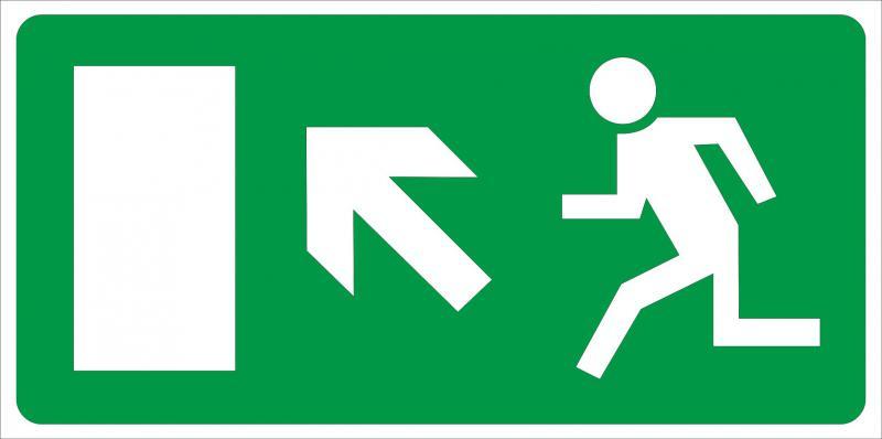 Vészkijárat irányító matrica 2