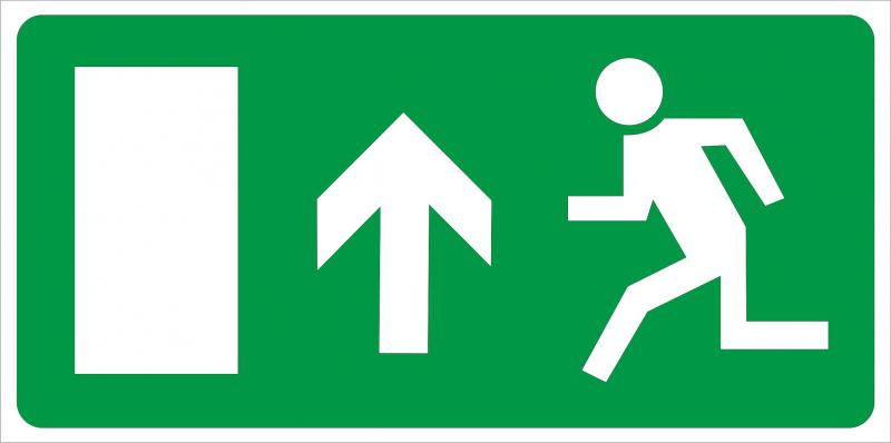 Vészkijárat irányító matrica 3