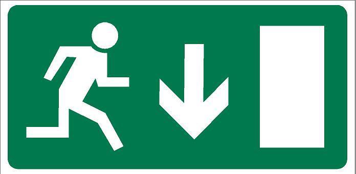 Vészkijárat irányító matrica 4