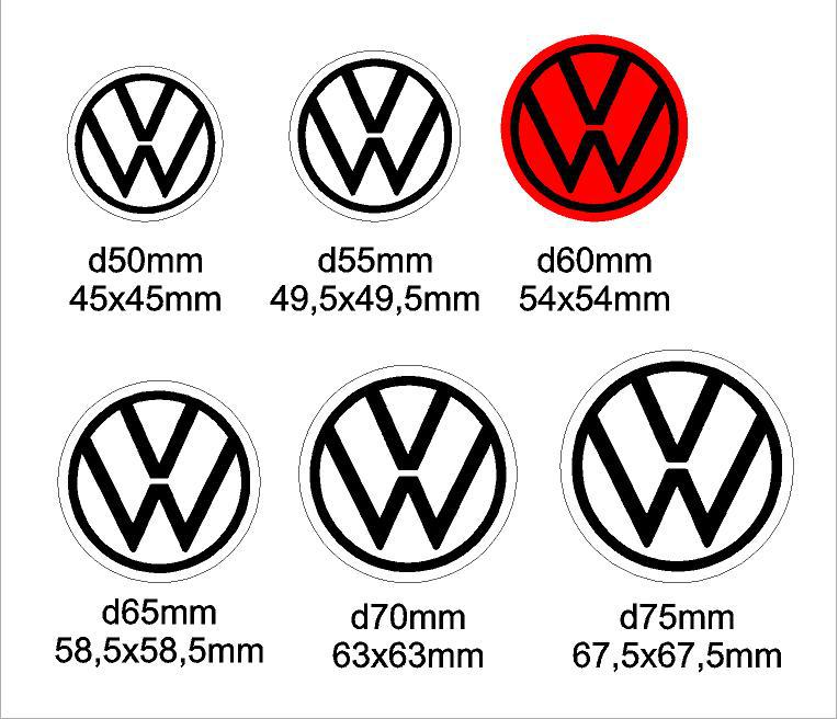 Volkswagen felni közép matrica szett 2020-as