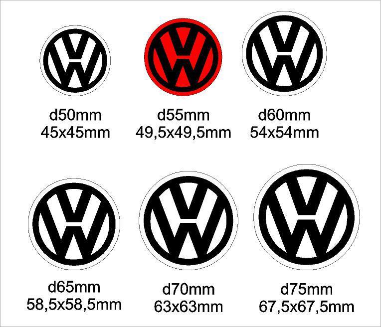 Volkswagen felniközép matrica szett 2. (60 mm)