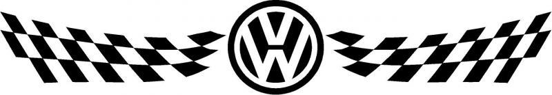 VW szélvédő matrica