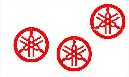 Yamaha logó kör matrica szett 3. típus