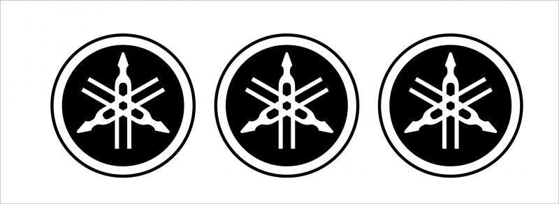 Yamaha logó kör matrica szett (60 mm) 1. típus