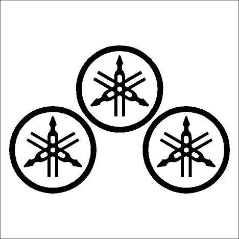 Yamaha logó kör matrica szett (60 mm) 2. típus