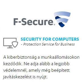 Egészségügyi kedvezményes F-Secure PSB 5-24 felhasználóig 1 éves előfizetés