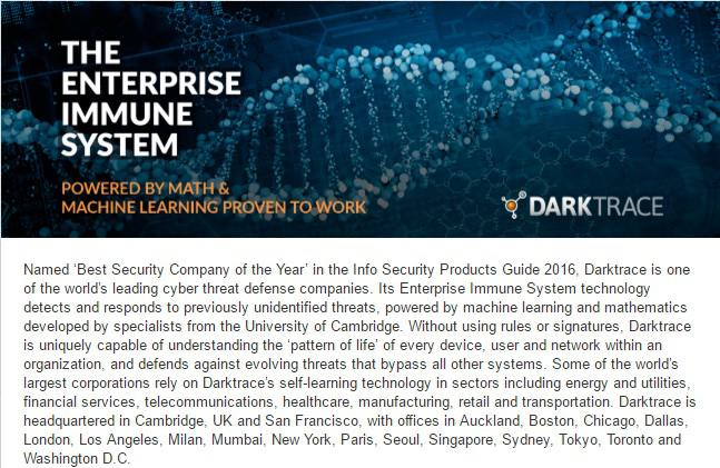 Darktrace gépi tanulás és MI alapú védelmi teszt rendszer a kibertámadások ellen
