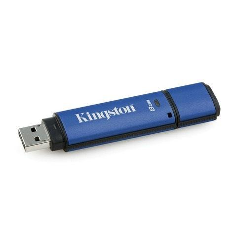 Kingston memory USB DataTraveler 8GB DTVP30, 256bit AES Encrypted USB 3.0