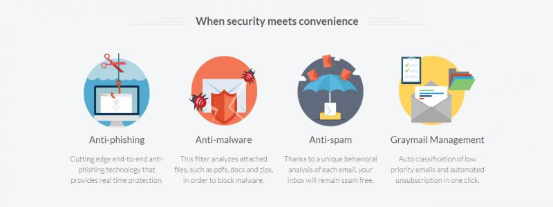 Vade Secure Cloud spamszűrő 1 postafiókra, 1 évre 1000+  felhasználóra