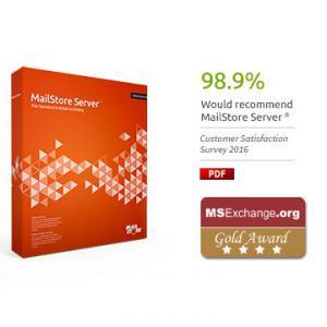 MailStore Server 10 felhasználó Standard terméktámogatással
