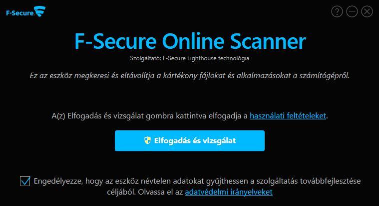 F-Secure ingyenes, on-line vírusellenőrző magyarul