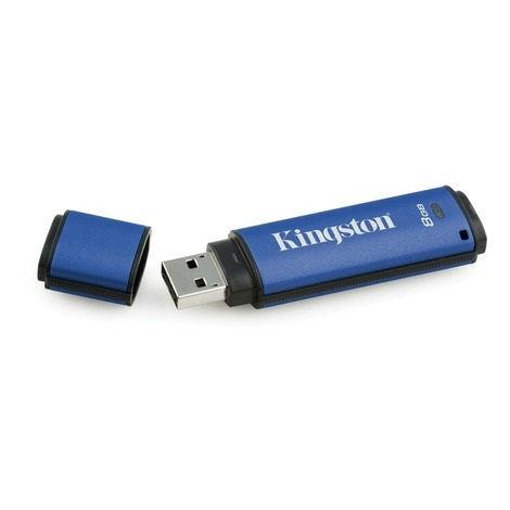 Kingston memory USB DataTraveler 8GB DTVP30, 256bit AES Encrypted USB 3.0