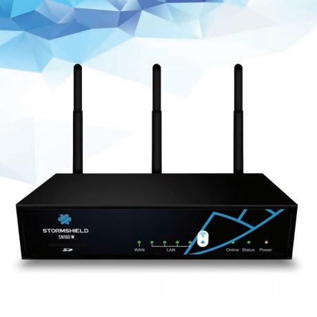 Stormshield SN160w hardveres EU tűzfal és WiFi 3 éves Premium UTM előfizetéssel