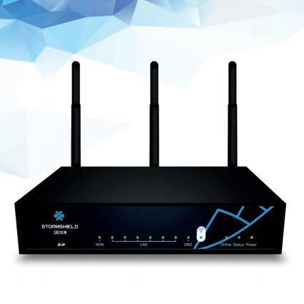Stormshield SN210w hardveres EU tűzfal és WiFi egy éves Premium UTM előfizetéssel