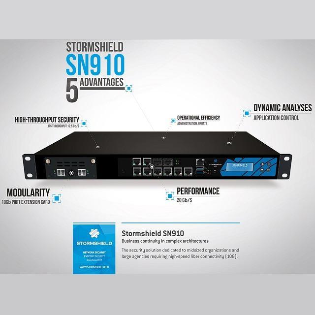Stormshield SN910 hardveres EU tűzfal havidíjas BÉRLET Premium UTM előfizetéssel