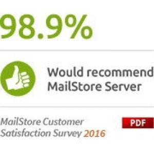 MailStore Server megújítása 25-49 felhasználóra Standard terméktámogatással