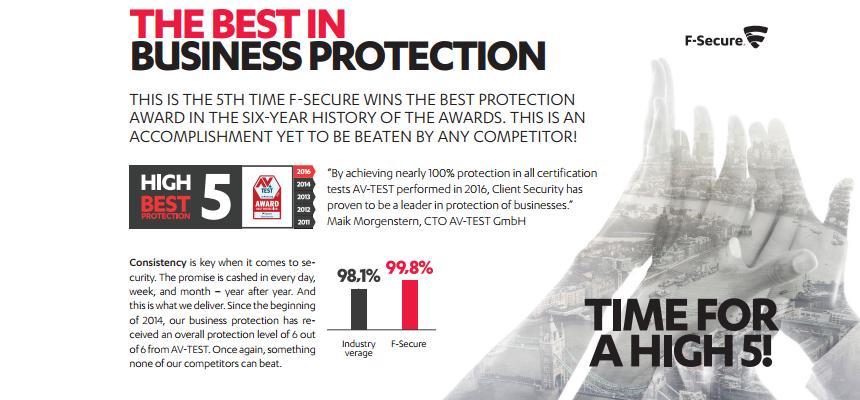 5 éve nyerő F-Secure
