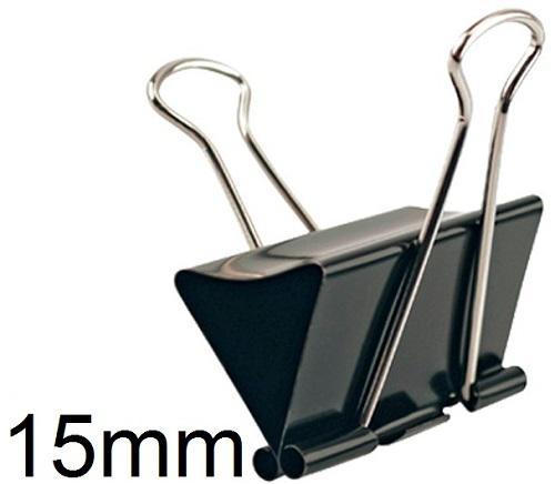 Iratcsipesz Binder csipesz 15mm fekete
