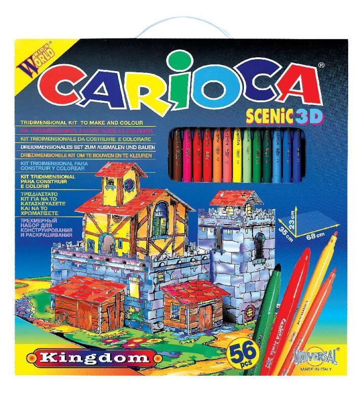 Kifestő szinező 56 darabos készlet Carioca Scenic 3D Kingdom
