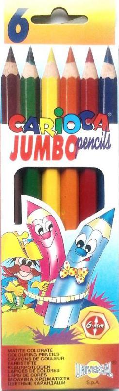 Színes ceruza 6 DB-OS Carioca JUMBO