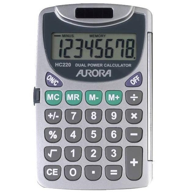 Zsebszámológép 8 digites Aurora  HC220