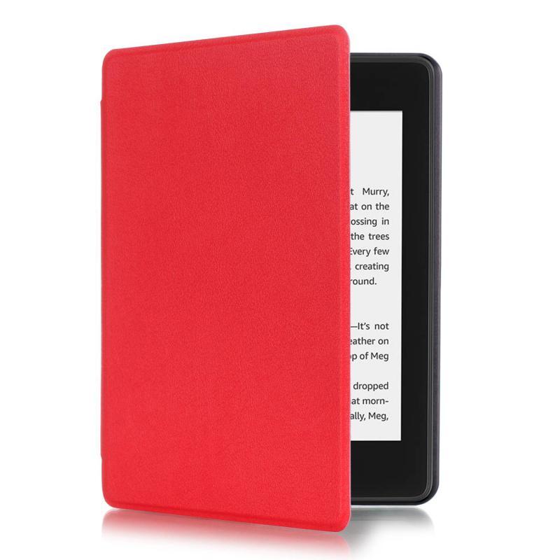 Kindle 10 (2019) Mágneses Smart Védőtok Piros