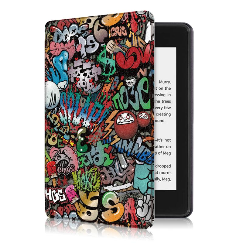 Kindle 10 mágneses Smart Védőtok Graffiti